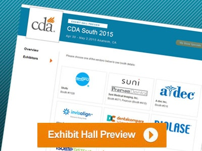 Now Available: Dentalcompare's CDA South Exhibit Hall Preview