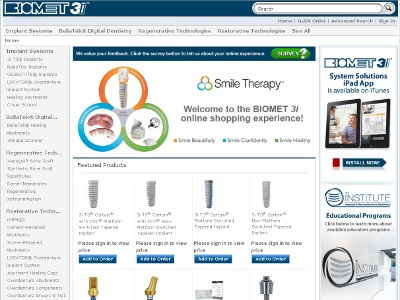 Biomet 3i Launches Online Store Dental News