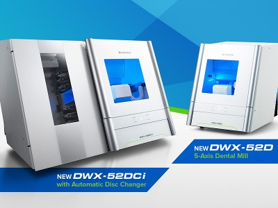 New Dental Products: DWX-52DCi and DWX-52D Milling Machines from Roland DGA