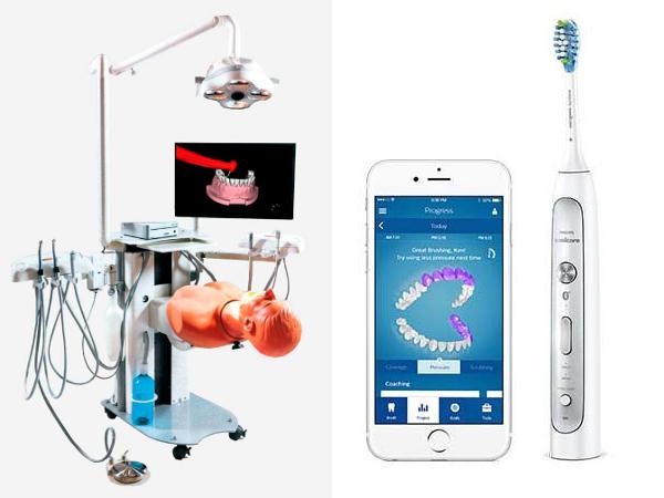 Leonardo trainer and Philips Sonicare Flexcare Platinum Connected